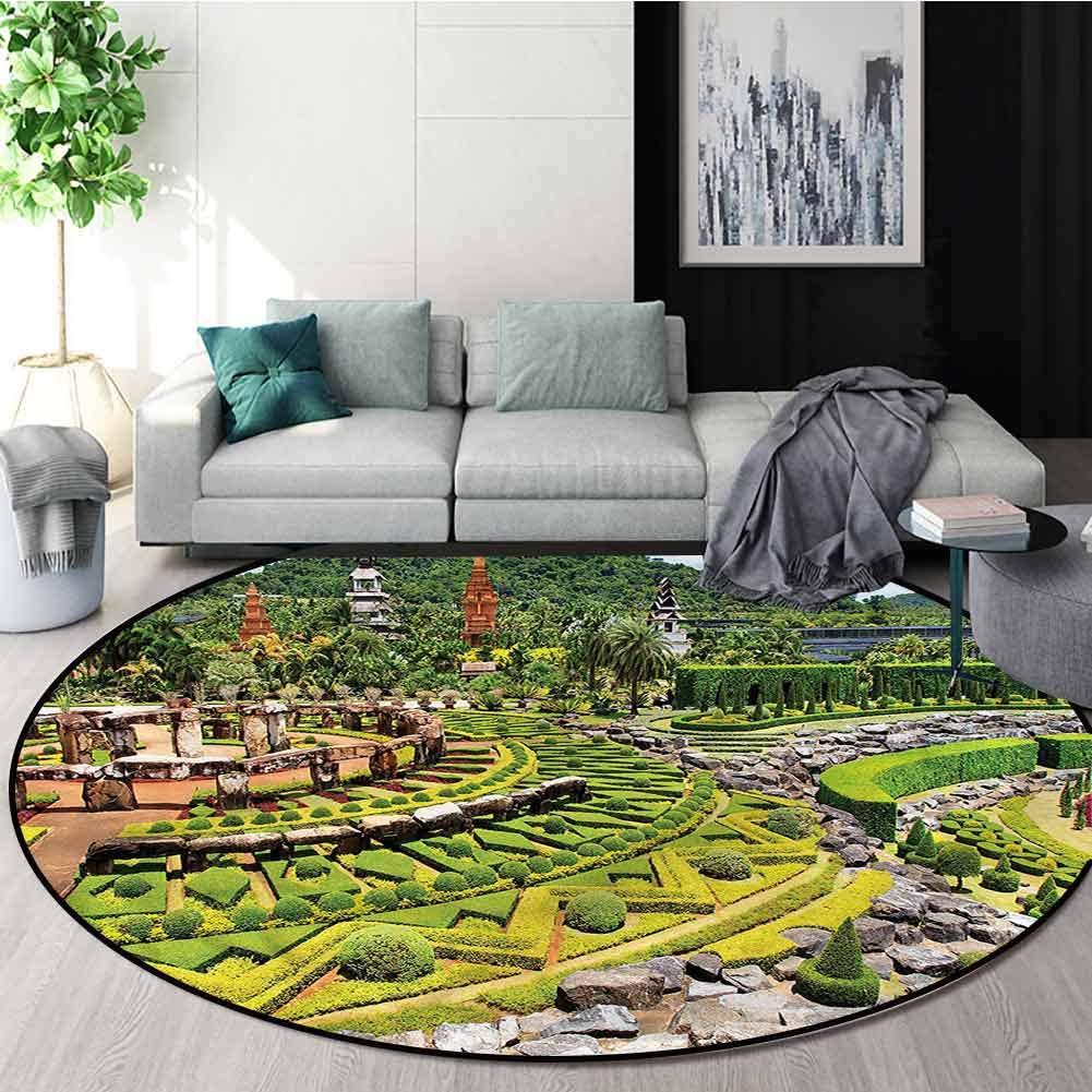 RUGSMAT tapete de Piso para Silla de jardín, Keukenhof Países Bajos, Alfombra de Suelo para decoración del hogar, Polipropileno, Estilo-03, Diameter-51: Amazon.es: Hogar