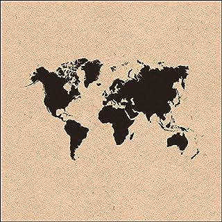 Ambiente Servet gerecycled Lunch 33x33cm Motief: wereldkaart - 100% gerecycled papier 20 stuks per verpakking