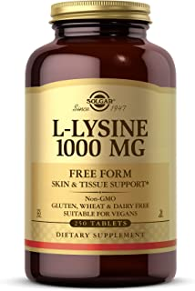 Solgar L-Lysine 1000 mg, 250 Tablets - Enhanced Absorption and Assimilation - Promotes Integrity of Skin and Lips - Collag...