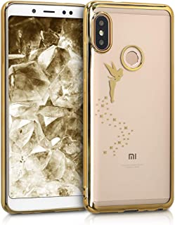 kwmobile Funda Compatible con Xiaomi Redmi Note 5 (Global Version) / Note 5 Pro - Carcasa de TPU Hada en Dorado/Transparente