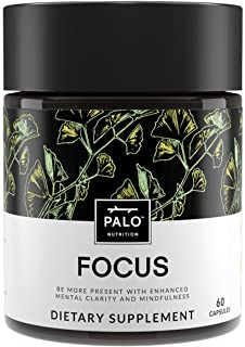 Sponsored Ad - Focus | All-Natural Brain Booster & Nootropic for Memory & Mental Clarity - with Ginkgo Biloba, Bacopa Monn...