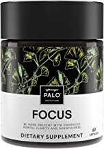 Focus | All-Natural Brain Booster & Nootropic for Memory & Mental Clarity - with Ginkgo Biloba, Bacopa Monnieri, Gotu Kola, Ashwagandha, Mucuna Pruriens and Turmeric by PALO Nutrition