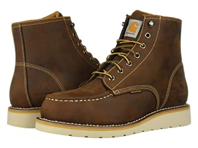 Carhartt 6 Steel Toe Waterproof Wedge Boot (Dark Bison Oil Tanned) Men