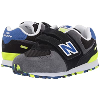 New Balance Kids IV574v1 (Infant/Toddler) (Black/Royal Blue) Boys Shoes