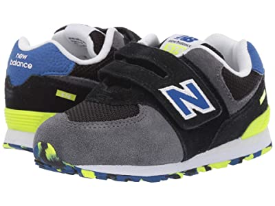 New Balance Kids IV574v1 (Infant/Toddler) (Black/Royal Blue) Boys Shoes