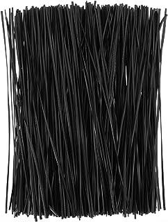 BESTOYARD ラッピングタイ ビニールタイ 黒 ワイヤータイ 柔らか ガーデンタイ 園芸用 結束用品 ギフト 包装用 500本入(15cm)