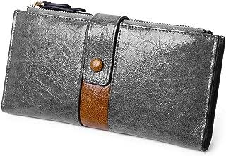 Womens Wallet Long Bifold Rfid Ladies Card Phone Coin Purse Double Zipper