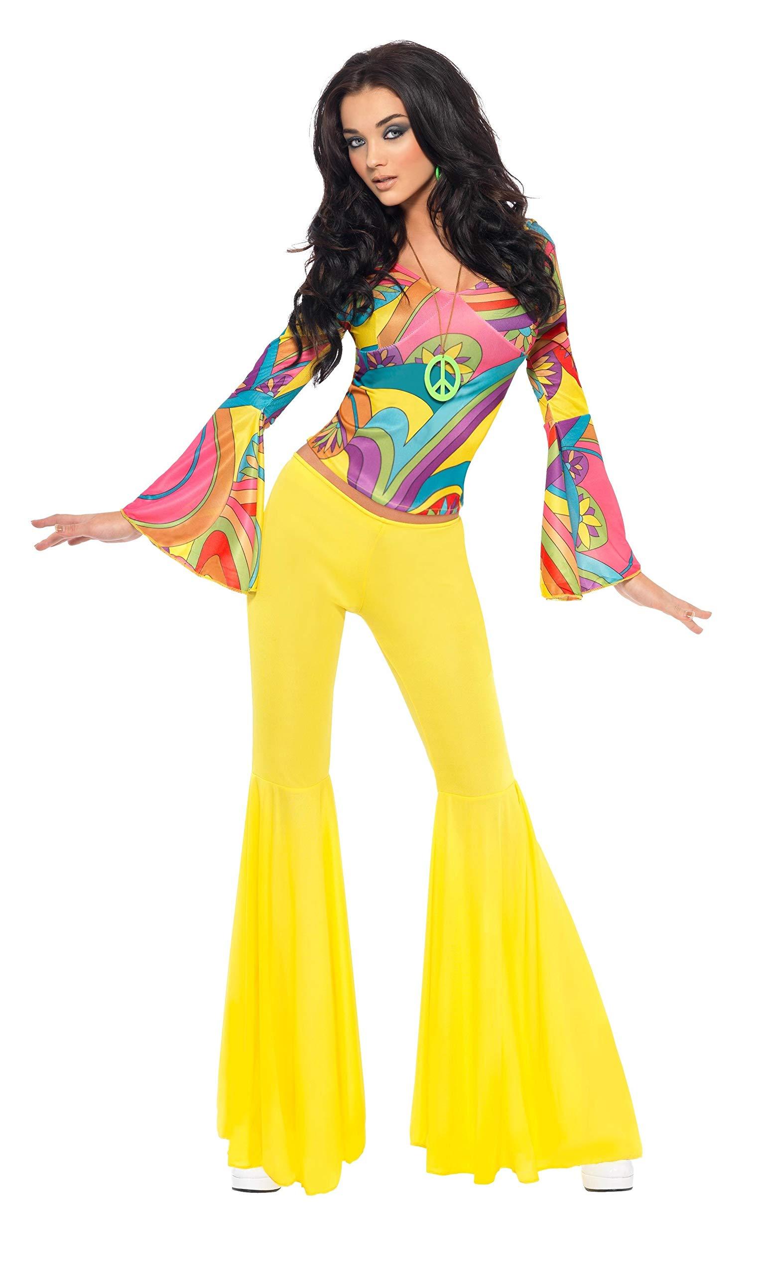 SmiffyS 30445S Disfraz De Chica Guay De Los 70 Con Top Y ...