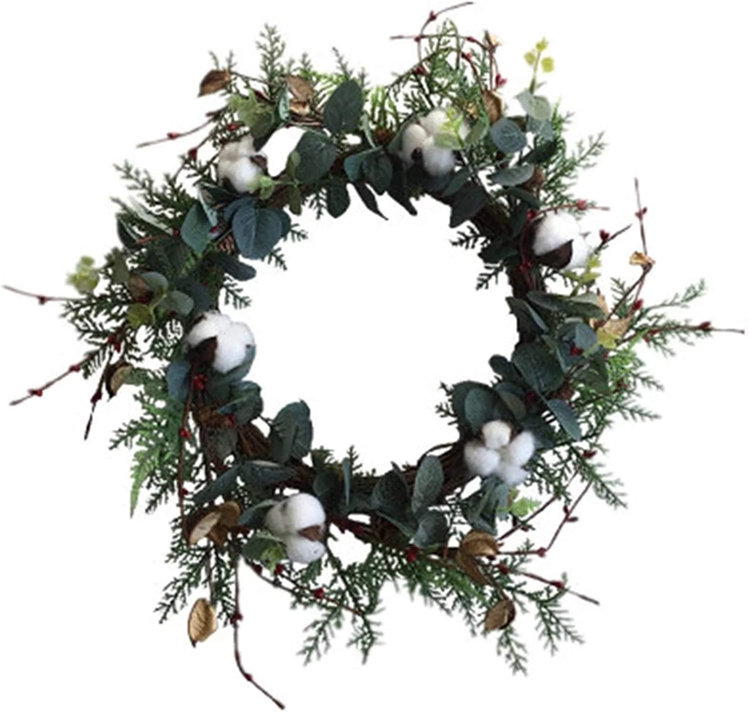 Max 55% OFF ZYMING Wreaths Wreath Natural Cotton Dried Wre Artificial Flower Selling rankings