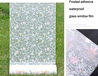 Ronald Shakespeare Glass Paper Window Decorative Film,Waterproof Frosted Opaque Glass Window Film Privacy Self-Adhesive Glass Stickers Home Decor PVC Toilet Bathroom (17.7 x 78.7 Inch)