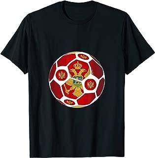 Montenegro Flag Soccer Ball Men Women Team Fan Shirt