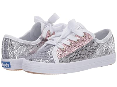 Keds Kids Kickstart Seasonal (Toddler/Little Kid) (Color Block Sparkle) Girl