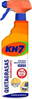 KH-7 Quitagrasas Desinfectante - 4 Recipientes de 650 ml - Total: 2600 ml