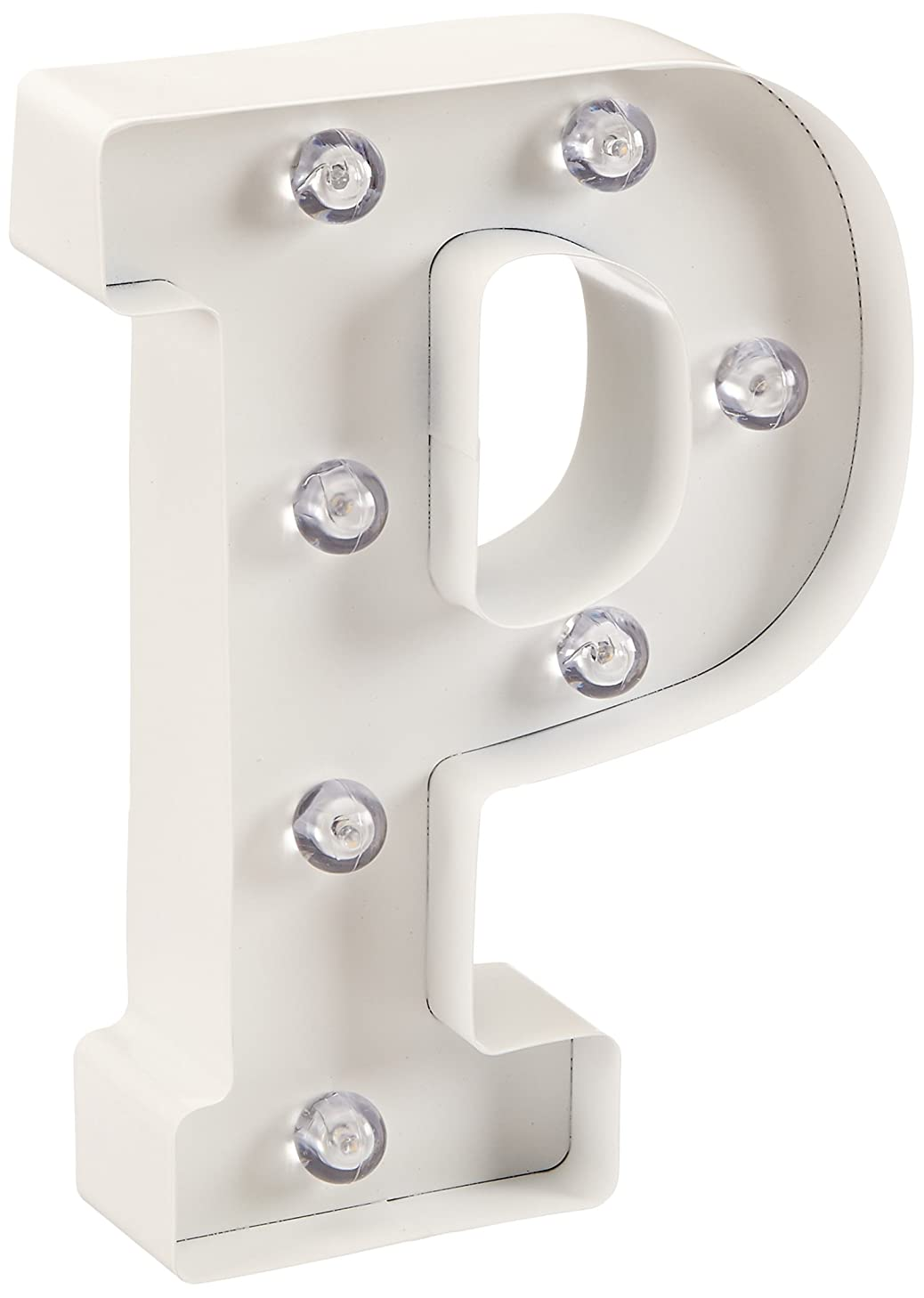 Darice Light Up White Marquee Letters - Letter P - 9.875
