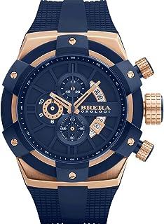 BRERA OROLOGI - Reloj de Cuarzo Analógico para Hombre con Correa de Goma Mod. Supersportivo Brssc4910
