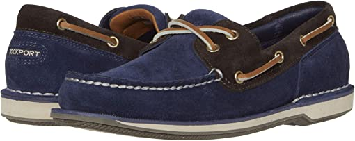 Navy/Bitter Chocolate Suede
