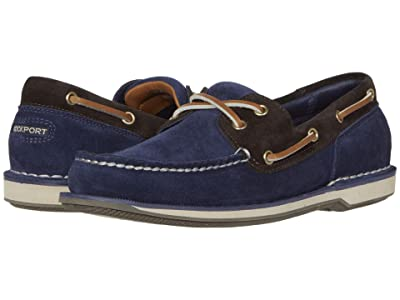 Rockport Ports of Call Perth (Navy/Bitter Chocolate Suede) Men