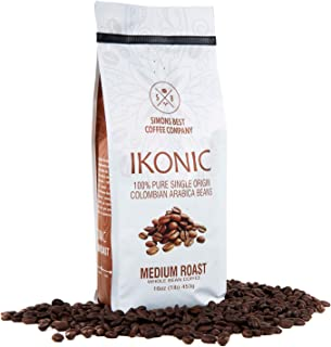 Simons Best Ikonic Whole Bean Gourmet Coffee | Premium Quality Arabica Colombian Beans (Medium Roast)