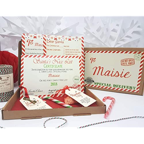 J/&R Boutique Personalised Santa Letter with Santa Nice List Certificate 2 Sheets