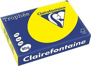Clairefontaine Trophée - Resma de papel, 80 gr/m², 500 hojas, A4 (21 x 29.7 cm), color amarillo sol