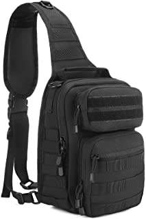 UBORSE Tactical Military Chest Bag MOLLE Sling Bag Crossbody Shoulder Bag Army Assault Backpack for Hiking, Cycling, Trave...