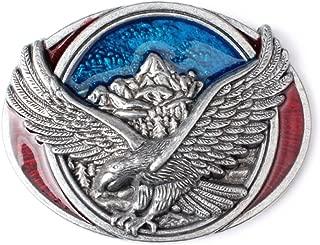 MASOP American Eagle Flag Western Belt Buckle, USA Hero Belt Buckles for Men Women