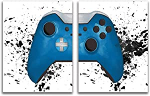 ONLOCOR Gaming Canvas Wall Art for Boys Game Room Decor Geek Art Photo Prints Gamepad Posters Wall Pictures Canvas Painting Artwork for Kids Art Gamer Decor for Boys Room Wall Decoration Unframed, 16x24Inches x2
