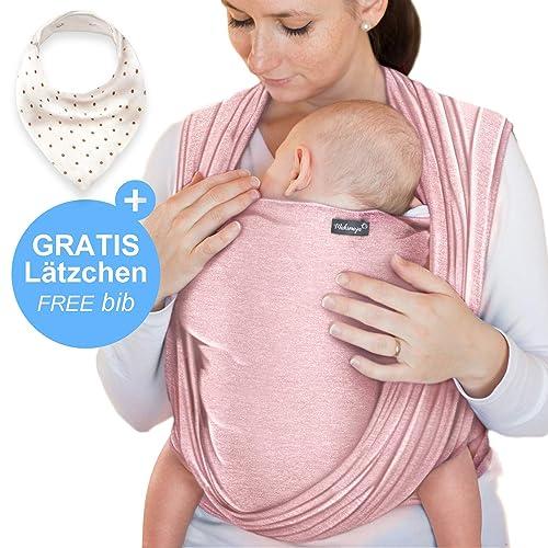 Écharpe de portage rose - porte-bébé de haute qualité pour nouveau-nés et c18769d2c23