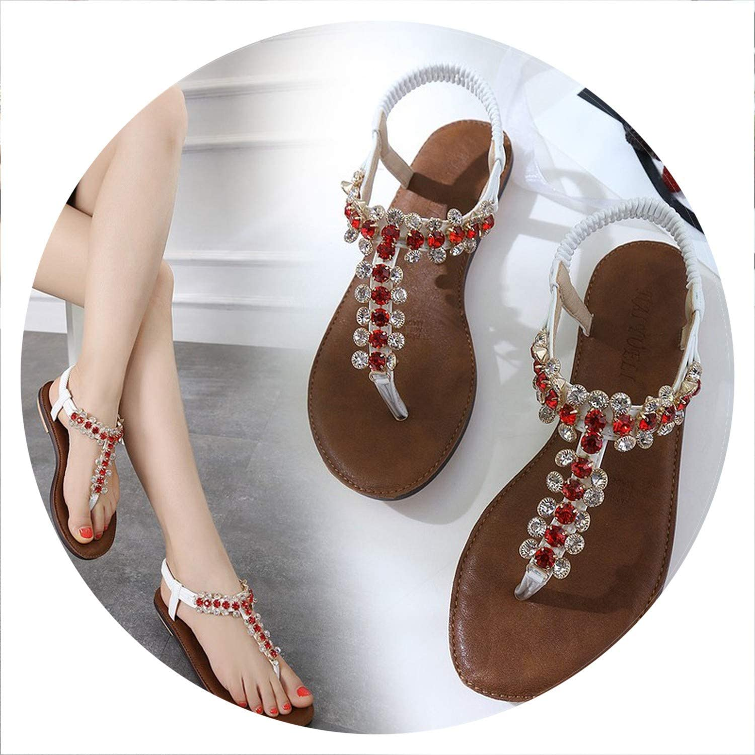 colorful-space New Summer Women Flat Gladiator Sandals shoes Woman Flip Flop shoes Ladies Fashion Crystal Female Casual Sandals shoes