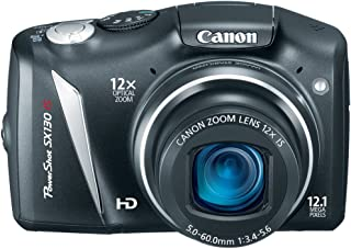Canon PowerShot SX130IS 12.1 MP Digital Camera with 12x Wide Angle Optical Image Stabilized Zoom with 3.0-Inch LCD (Discon...