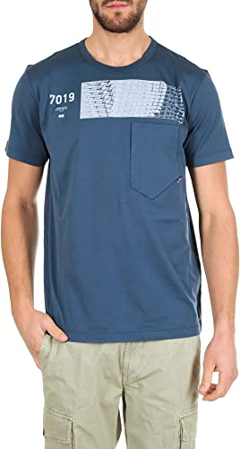 Stone Island Homme 2011010V0028 Bleu Coton T-Shirt