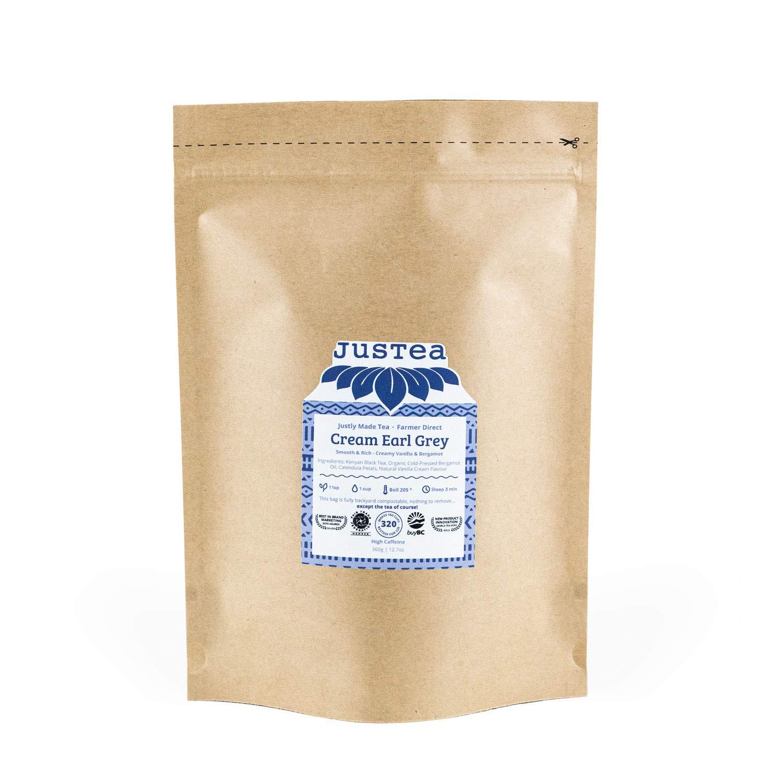 JusTea CREAM EARL GREY Loose Leaf Direct Surprise price stock discount a Black Compostable R in Tea