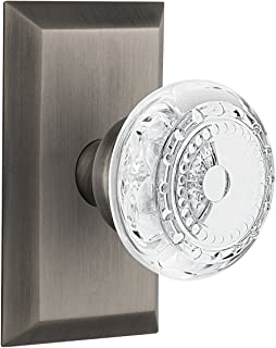 """(antiquepewter, 2-3/4"""") - Nostalgic Warehouse Meadows Privacy Door Knob with Studio Plate"""