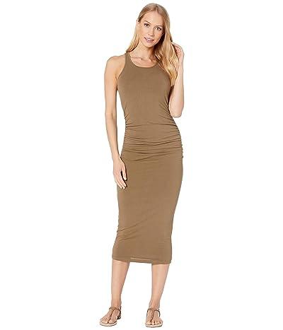 Michael Stars Racerback Dress w/ Shirring (Olive) Women