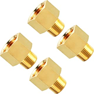 SUNGATOR Brass Pipe Fitting, Reducer Adapter, 3/8