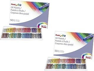 2 PACK SET - Pentel Arts Oil Pastels, 50 Color Set (PHN-50) 2 Sets!!