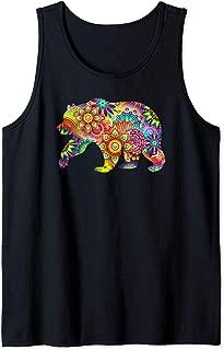 Colorful Psychedelic Bear - LGBT Gay Pride Tank Top