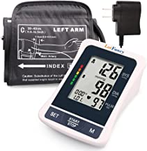 LotFancy Blood Pressure Monitor Upper Arm, Automatic Blood Pressure Montior with Large Cuff, 2 x 120 Reading Memory, Digital BP Meter with Large Screen, Portable Case & Adapter Included
