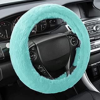 Purple Butterfly Pattern Steering Wheel Cover 14.5 to 15.5