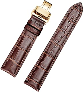 EHHE ZPF Calfskin Replacement Leather Watch Bands with Deployment Buckle for Men's Wtach Band and Women's Watch Starp 18mm-24mm