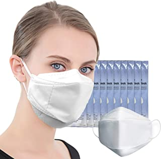 (US in Stock) 10 PCS 4-Layers Hygienic Disposable Face Mask 3D Dust Masks Protective Face Mask Mouth Cover Men Women made in Korea