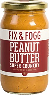 Gourmet Chunky Peanut Butter. Handmade in New Zealand. All Natural and Non-GMO from Fix & Fogg. Extra Crunchy. Vegan, Keto Friendly. Superior Tasting Peanut Butter in Beautiful Gift Packaging (13.2oz)