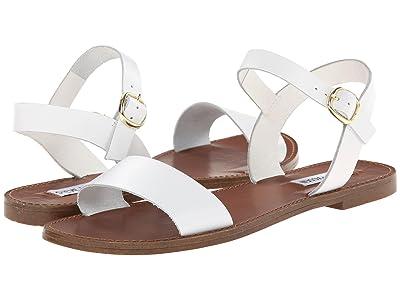 Steve Madden Donddi Sandal (White Leather) Women
