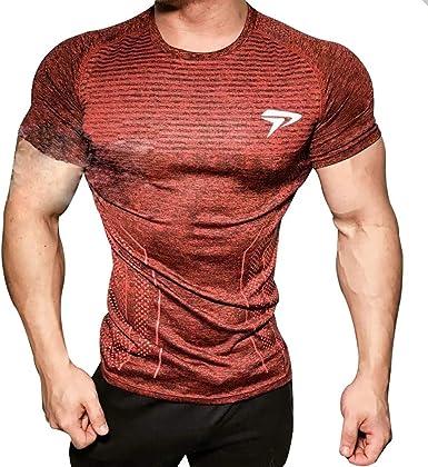 A. M. Sport Camisa Fitness Deporte Compresion Tecnica Hombre ...