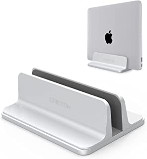 OMOTON Soporte Vertical Portátil, Movilble Soporte Laptop de Aluminio para Macbook Air/Pro, ASUS, Lenovo, Todos Portátiles y Netbooks, iPad, Plata