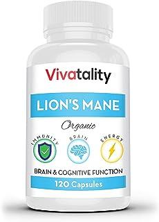 Lions Mane Nootropics Memory Supplement: 1000 mg Lion's Mane Mushroom Extract Supplements for Nervous System Support - Nat...