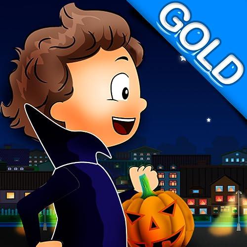 bonbons ou un sort: la nuit dehors pour les bonbons Halloween - édition dor