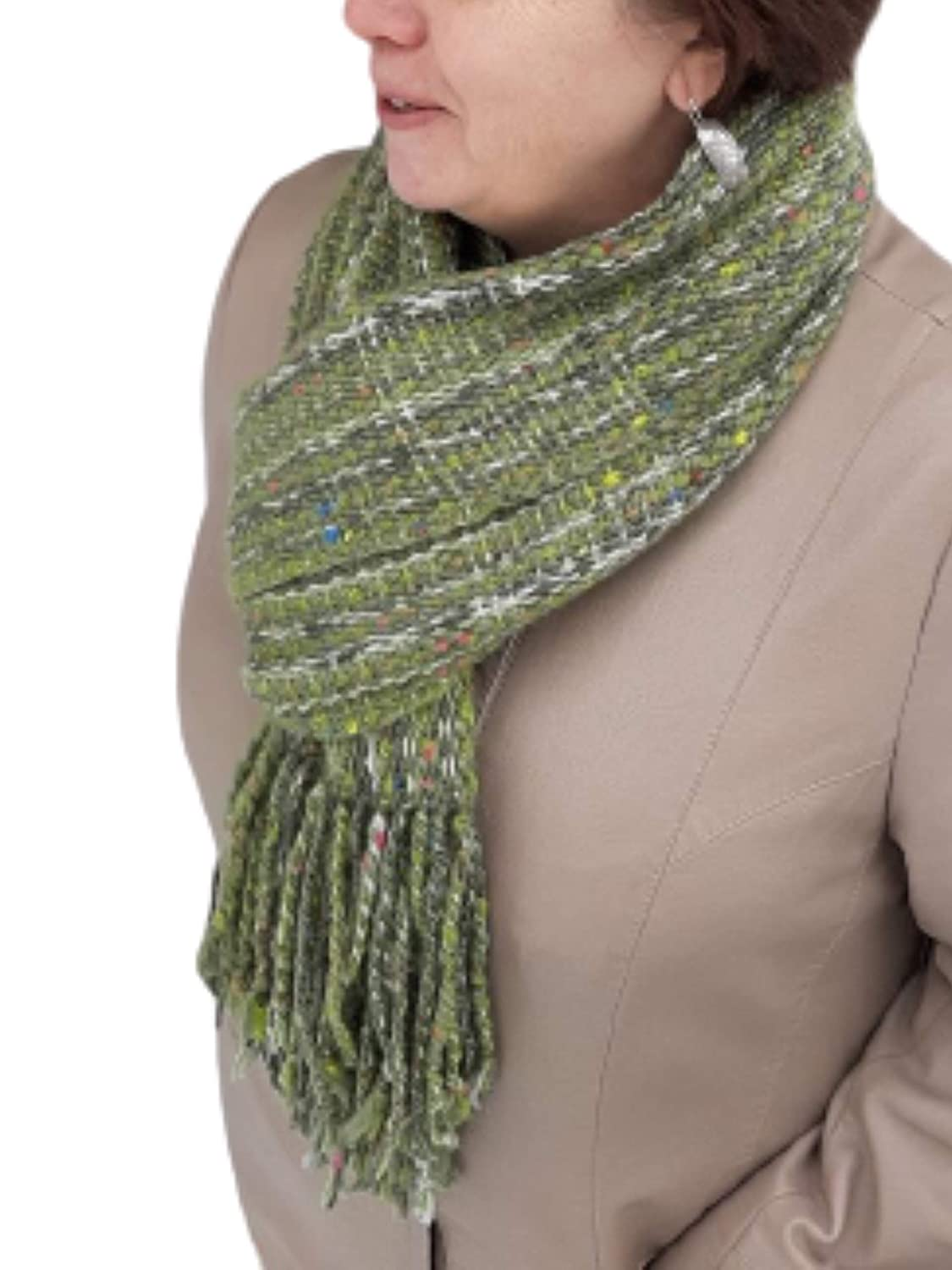 Fashion New color Handmade Green Wool Scarf for Max 46% OFF - Woman Winter.