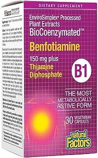 BioCoenzymated Benfotiamine 150 mg Natural Factors 30 VCaps