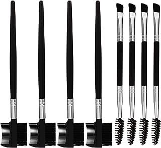 Lurrose Spoolie 8Pcs Sobrancelha Escova E Pente Para Cílios Ferramenta Maquiagem Sobrancelha Profissional Dupla Face Escov...